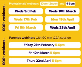 SOS+ sessions for parents and professionals